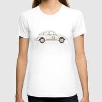 vw T-shirts featuring Famous Car #4 - VW Beetle by Florent Bodart / Speakerine