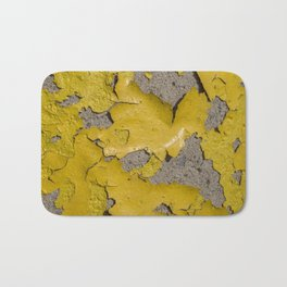 Yellow Peeling Paint on Concrete 3 Bath Mat