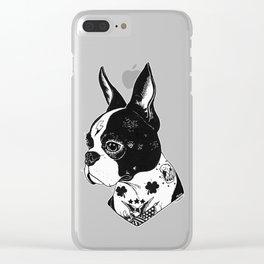 Dog - Tattooed BostonTerrier Clear iPhone Case