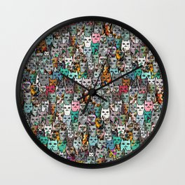 Gemstone Cats Wall Clock