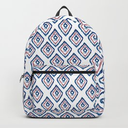 Rugged Royal - aztec watercolour pattern Backpack