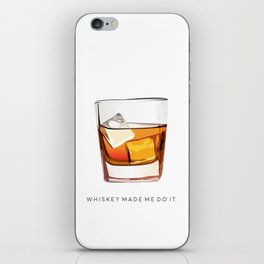 Alcohol Poster,Funny Poster Whiskey Art,Make Mine a Double,Alcohol Gift,Whiskey Cocktail,Inspiring iPhone Skin