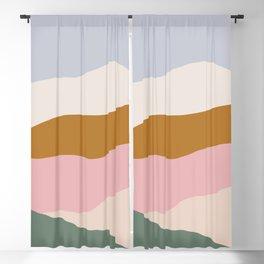 Color Block Fields Blackout Curtain
