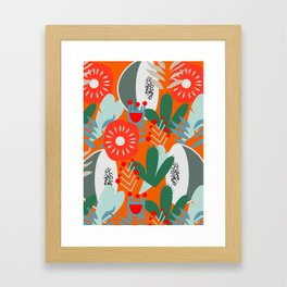 Cacti, fruits and flowers Framed Art Print