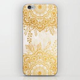 Queen Starring of Mandala-Gold Sunflower II iPhone Skin