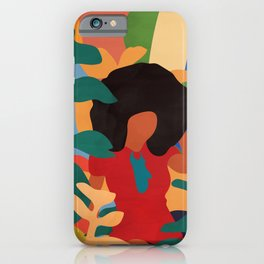 Get lost in nature and you will find yourself  #art print #abstract art iPhone Case