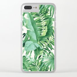Green tropical leaves III Clear iPhone Case
