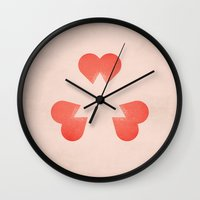 pride and prejudice Wall Clocks featuring Pride and Prejudice by Christian Jackson