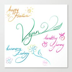 Vegan & happy lifestyle Canvas Print