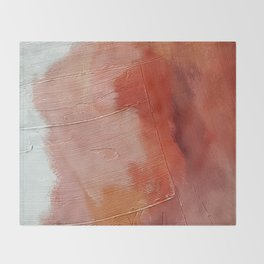 Desert Journey [1]: a textured, abstract piece in pinks, reds, and white by Alyssa Hamilton Art Throw Blanket