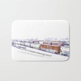 Cold Trains Bath Mat