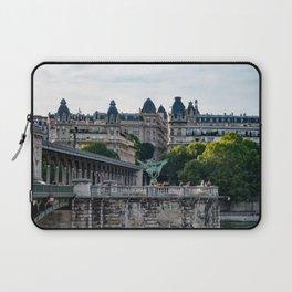 Pont de Bir-Hakeim over the Seine - Paris, France Laptop Sleeve