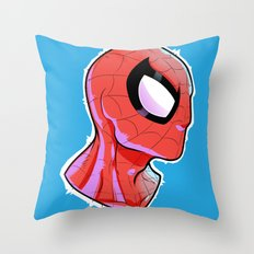 The Amazing Spider-Bust Throw Pillow