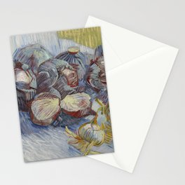 Red Cabbages and Onions Stationery Cards