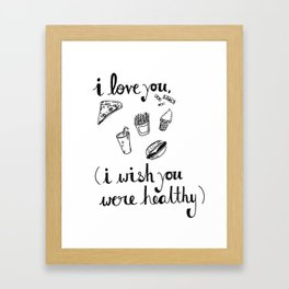 Health Problems Framed Art Print