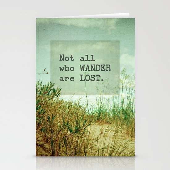 Not All Who Wander Stationery Cards
