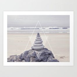 Rockbalancing And Geometry Art Print