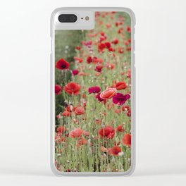 poppies. Clear iPhone Case