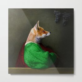 Portrait of the Fox and the Grapes Metal Print