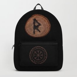 Raidho Elder Futhark Rune Travel, journey, vacation, relocation, evolution, change of place Backpack