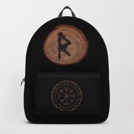 Raidho Elder Futhark Rune Travel, journey, vacation, relocation, evolution, change of place Backpack