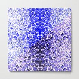 Street Floor Tiles Feeling Blue Tiger-Polka Dot...ish!_Xtreme Blue Edition Metal Print