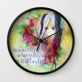 Gypsy Hippie Fairy Wall Clock