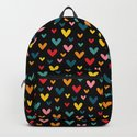 Happy Hearts on Black by happypatterns