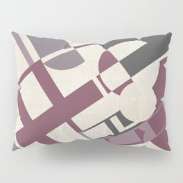 Space Probe Abstract in Mulberry, Aubergine, Mauve and Grey Pillow Sham