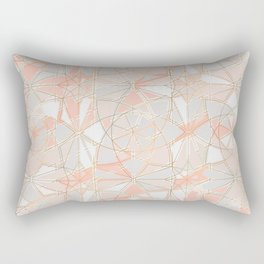 Pattern Rose Triangle Rectangular Pillow