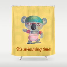 Swimming Time Shower Curtain