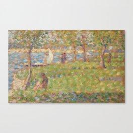 "Study for ""La Grande Jatte"" Canvas Print"