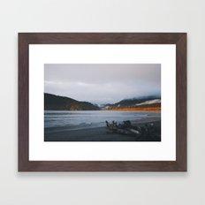 Sunset + Clouds Framed Art Print