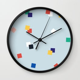 Here and Square Pattern Wall Clock