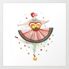 Acrobat Gum Art Print