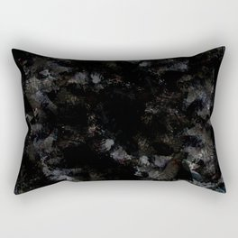 black marble abstract painting Rectangular Pillow