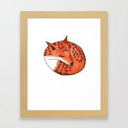 Woodland Creature Series: Fox Framed Art Print
