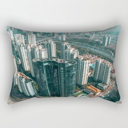 Aerial Cityscape and Legs (Color) Rectangular Pillow
