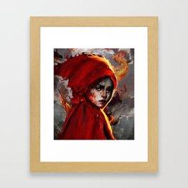 red one Framed Art Print