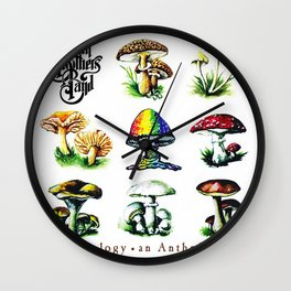 Vectorized Illustration Art Design The Vectored,Allman-1998 June 9 Brothers Illustrated,Band-34423 - Colorful,Mycology-34554 - An Vector Anthology  Wall Clock