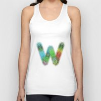 letter Tank Tops featuring Letter W by David Zydd