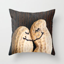 Peanut Snuggles Throw Pillow