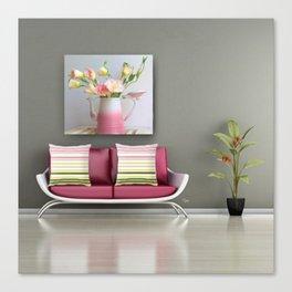 Coffee, Tea or Flowers Vignette Canvas Print