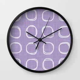 vintage fantasy triped circles Wall Clock