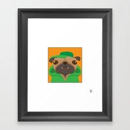 Puggin' Framed Art Print
