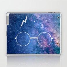 Space Galaxy Potter Glasses Lightning Scar Laptop & iPad Skin