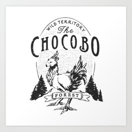 Chocobo Forest - Vintage Art Print