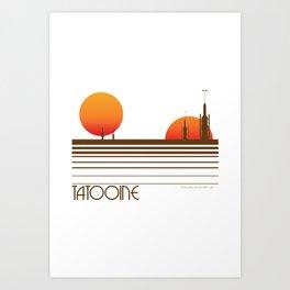 Visit Tatooine Art Print