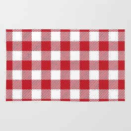 Buffalo Plaid - Red & White Rug