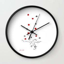 Polka Dots Flamenco Wall Clock